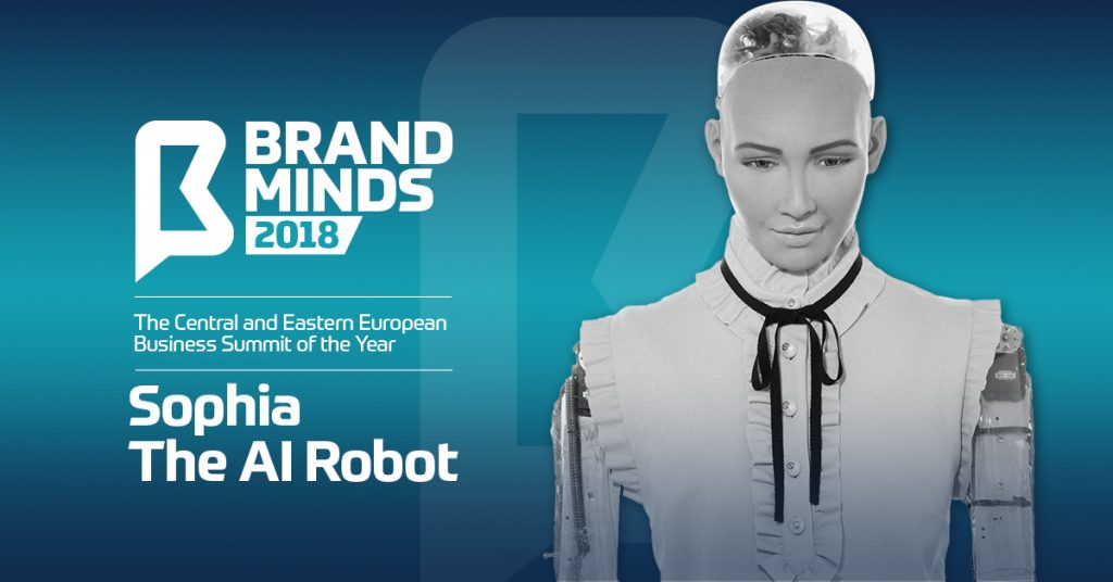 Sophia, the Humanoid Robot at BRAND MINDS 2018