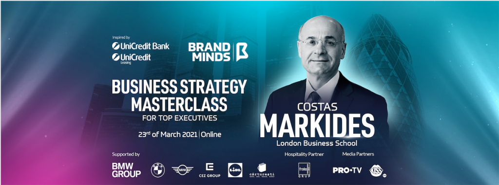 Start CHECK IN for the BUSINESS STRATEGY MASTERCLASS with COSTAS MARKIDES!